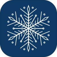 Snowflakes Stickers for iMessage®